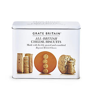 The Fine Cheese Co. Grate Britain All-British Cheese Biscuits Tin – 300g