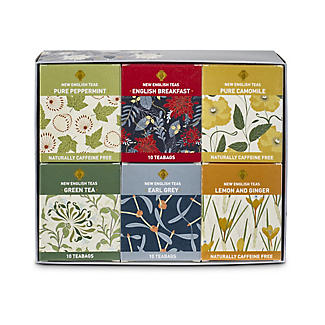 New English Teas Assortment of 60 Tea Bags – 6 Flavours