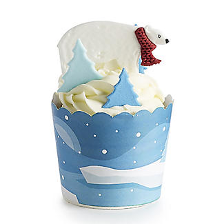 PME Polar Bear Cupcake Cases and Toppers Kit – Pack of 6 alt image 2