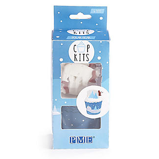 PME Polar Bear Cupcake Cases and Toppers Kit – Pack of 6 alt image 4