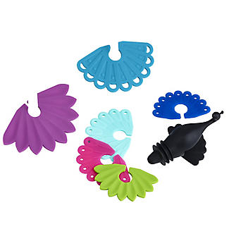 Peacock Bottle Topper and 6 Drink Markers alt image 2