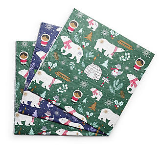 20 Polar Bear Christmas Paper Napkins