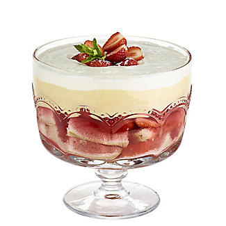 Artland Pearl Ridge Large Glass Footed Trifle Bowl 20cm Dia.