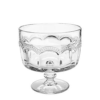 Artland Pearl Ridge Large Glass Footed Trifle Bowl 20cm Dia. alt image 2