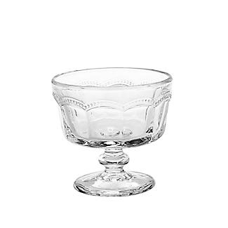4 Artland Pearl Ridge Mini Glass Footed Trifle Bowls alt image 3