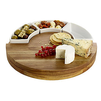 Lakeland Round Cheese Board with Knives Gift Set alt image 3