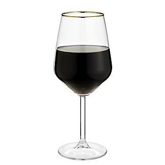 4 Lakeland Gold Rim Wine Glasses 490ml alt image 5