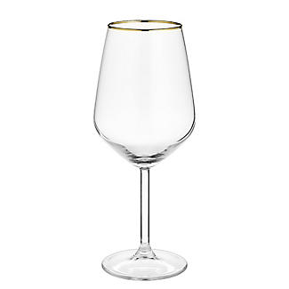 4 Lakeland Gold Rim Wine Glasses 490ml alt image 6