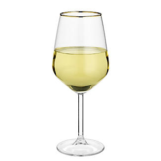 4 Lakeland Gold Rim Wine Glasses 490ml alt image 7