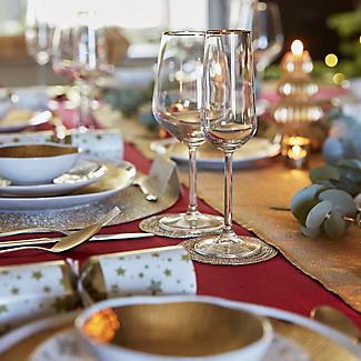 4 Lakeland Gold Rim Champagne Flutes 200ml  alt image 3