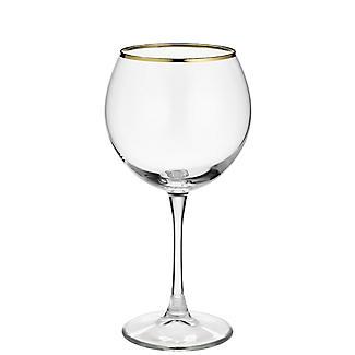 4 Lakeland Gold Rim Gin Balloon Glasses 630ml  alt image 3