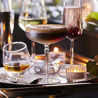 2 Iridescent Martini Glasses with Gold Rims 275ml alt image 2