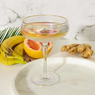 2 Iridescent Martini Glasses with Gold Rims 275ml alt image 5