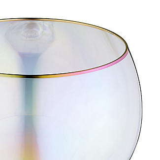 2 Iridescent Gin Balloon Glasses with Gold Rims 750ml  alt image 4