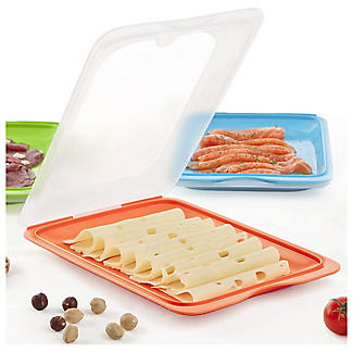 4 Tatay Cold Cut Food Storage Boxes - Coloured Lids alt image 3