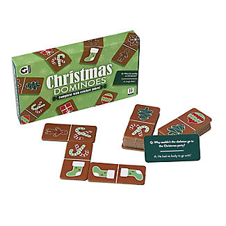 Christmas Dominoes with Jokes Table Game alt image 2
