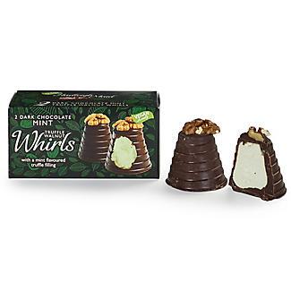 2 Dark Chocolate Mint Truffle Walnut Whirls