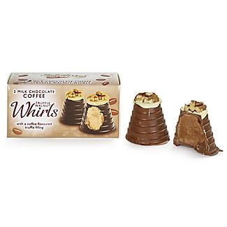 2 Milk Chocolate Coffee Truffle Walnut Whirls 90g