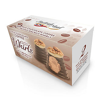 2 Milk Chocolate Coffee Truffle Walnut Whirls 90g alt image 2