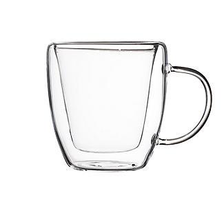 2 Lakeland Double-Walled Glass Coffee Mugs 180ml alt image 4