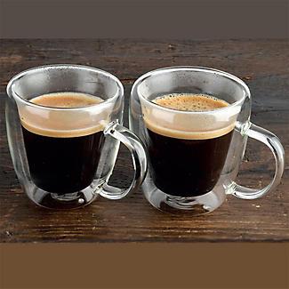 2 Lakeland Double-Walled Glass Coffee Mugs 180ml alt image 5