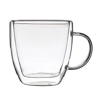 2 Lakeland Double-Walled Glass Coffee Cups 300ml alt image 4