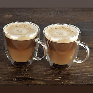 2 Lakeland Double-Walled Glass Coffee Cups 300ml alt image 5