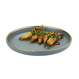Lakeland Gold-Rimmed Blue Dinner Plate 26cm Dia.