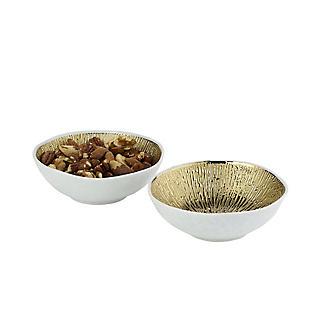 2 Lakeland Gold Textured Bowls
