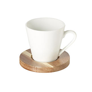 Lakeland 4pc Espresso Cup and Coaster Gift Set alt image 3