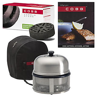 Cobb Premier Barbecue with Cobble Stones and Cook Book Bundle