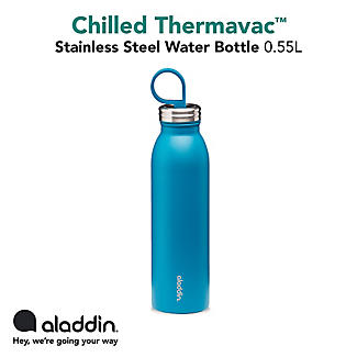 Aladdin Thermavac Stainless Steel Water Bottle Aqua Blue 550ml alt image 4