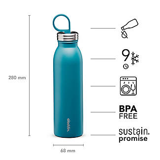 Aladdin Thermavac Stainless Steel Water Bottle Aqua Blue 550ml alt image 5