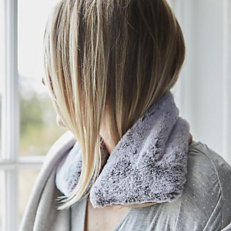 Grey Faux Fur Microwavable Body Wrap alt image 2
