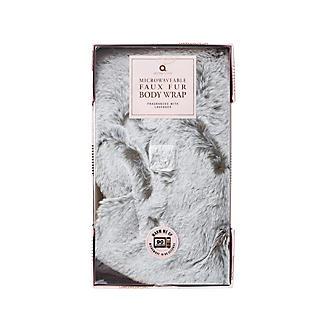 Grey Faux Fur Microwavable Body Wrap alt image 3