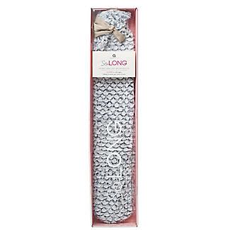 Grey Faux Fur Extra Long Hot Water Bottle
