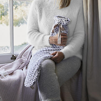 Grey Faux Fur Extra Long Hot Water Bottle alt image 2