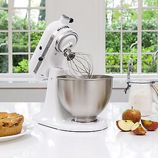 KitchenAid Classic Stand Mixer White 5K45SSBWH alt image 4