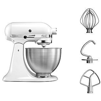 KitchenAid Classic Stand Mixer White 5K45SSBWH alt image 6