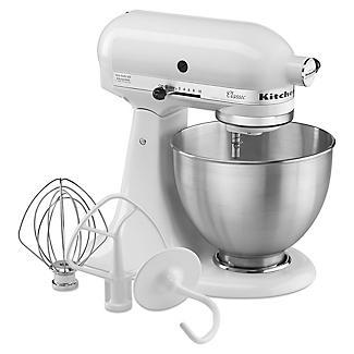 KitchenAid Classic Stand Mixer White 5K45SSBWH alt image 7