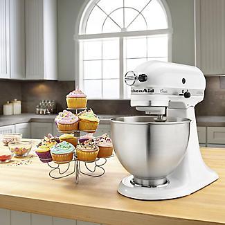 KitchenAid Classic Stand Mixer White 5K45SSBWH alt image 9