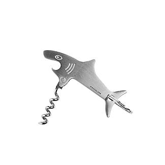 Kikkerland Shark Key Ring with Bottle Opener and Corkscrew