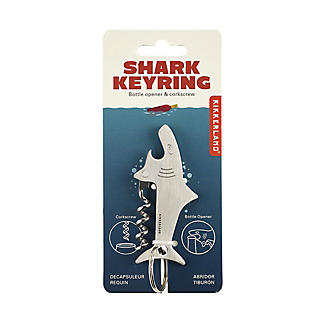 Kikkerland Shark Key Ring with Bottle Opener and Corkscrew alt image 2