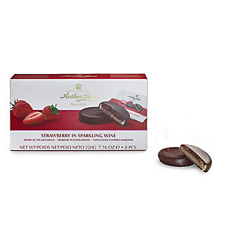 Strawberry in Sparkling Wine Chocolate-Covered Marzipan 220g