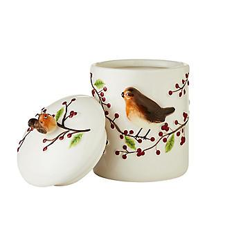 Grandma Wild's Robin & Berries Ceramic Jar with Choc Chip Cookies alt image 2