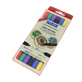6 PME Brush N Fine Edible Ink Pens with Bold Colours alt image 2