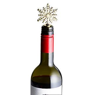 Lakeland Gold Snowflake Bottle Stopper