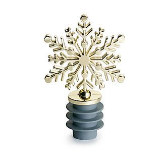 Lakeland Gold Snowflake Bottle Stopper alt image 2