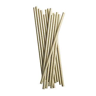 50 Gold Paper Straws