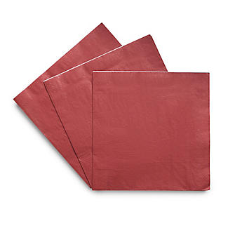 30 Red Paper Napkins